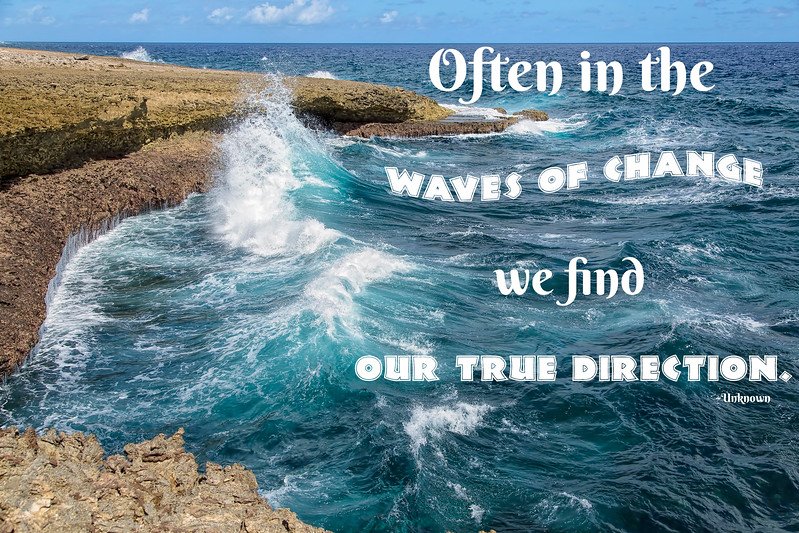 Waves of Change (with quote)