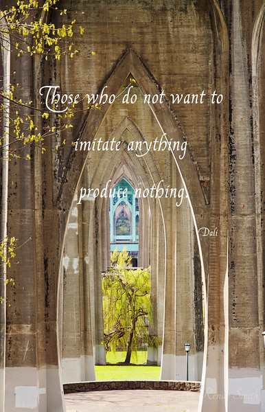 Those who do not want to imitate anything produce nothing