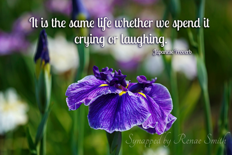 It is the same life whether we spend it crying or laughing