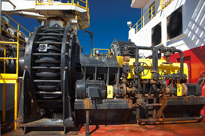 SEDIMENT PUMP ON THE DREDGE E.F. ELLEFSEN Offshore Louisiana, 2010