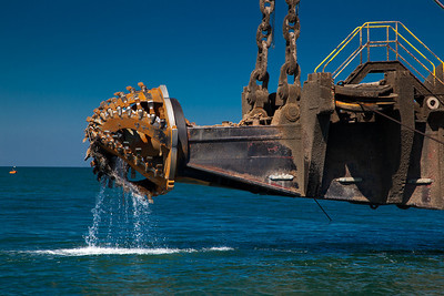 CUTTERHEAD OF THE DREDGE ALASKA