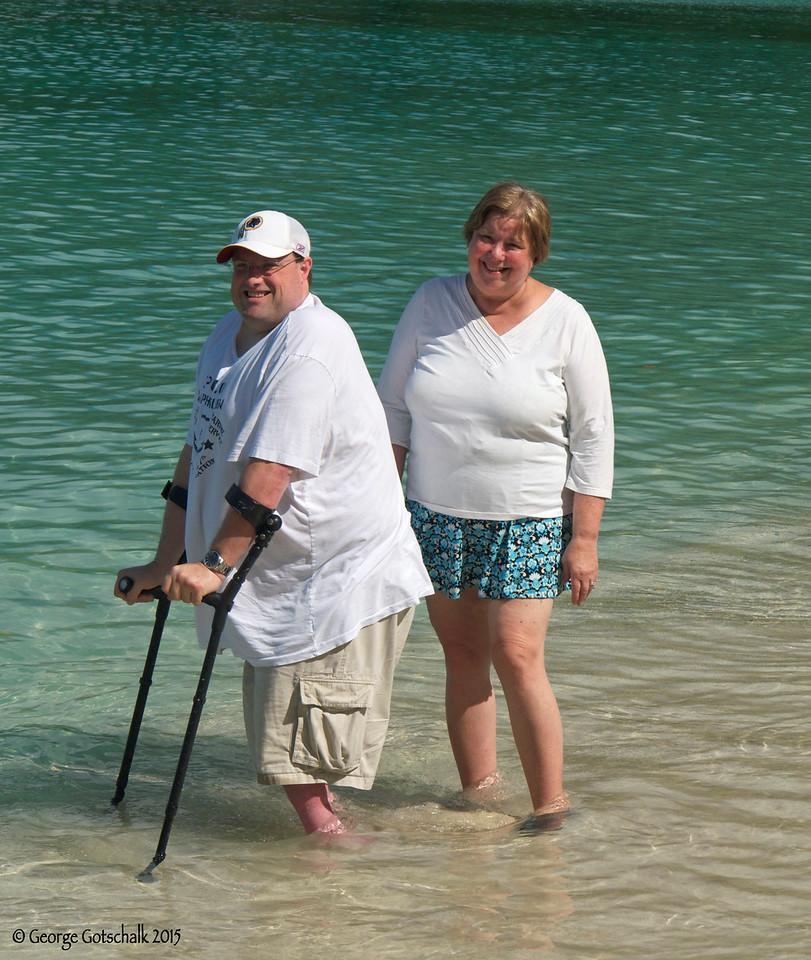 Dave and Martha at Megan's Bay, St. Thomas
