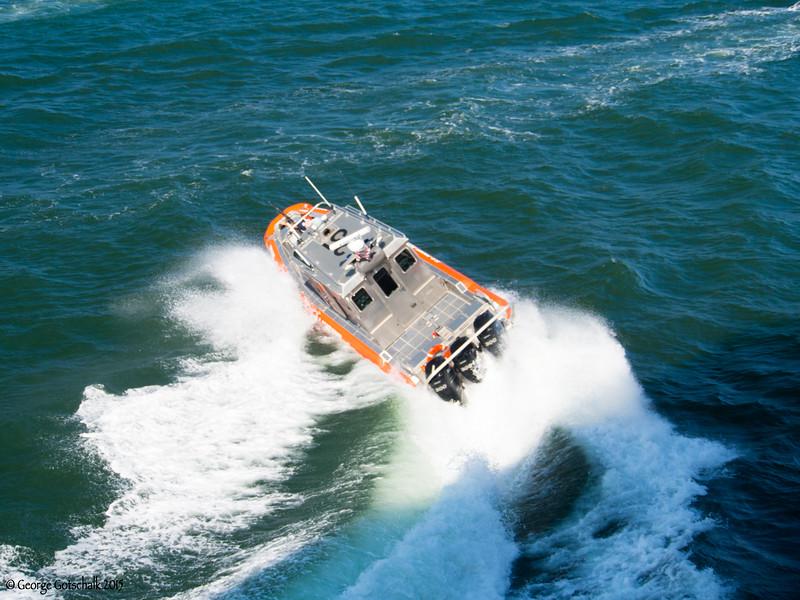 Coast Guard hard left in Port Lauderdale.