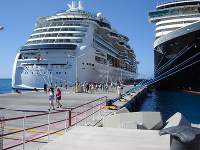 Caribbean Cruise  Tied up along side Holland -America in St. Marrtin