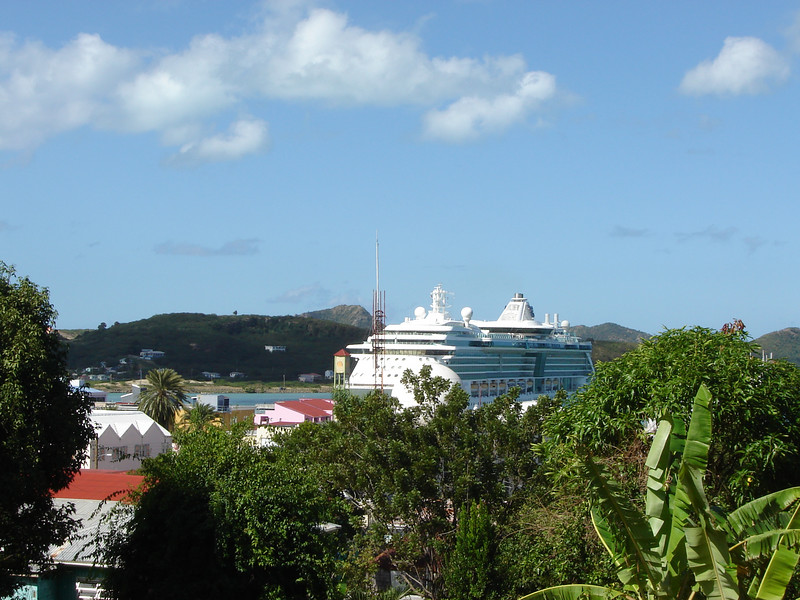 Serenade of the Seas in Antigua <br /> A view of our ship from St. Johns in Antigua W.I.