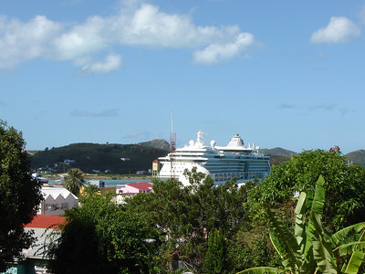 Serenade of the Seas in Antigua  A view of our ship from St. Johns in Antigua W.I.