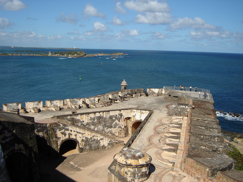 El Moro protects the inlet into San Juan <br /> This is where the Cruise Ships enter and leave San Juan thru this inlet