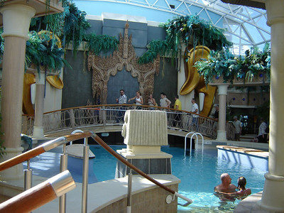 Caribbean Cruise  Indoor Pool on board ship