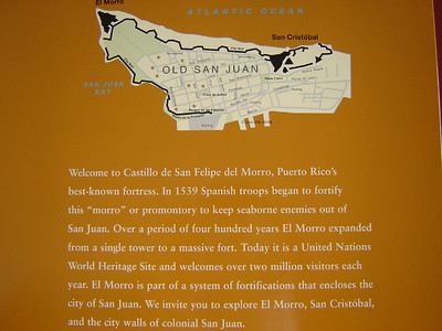 Caribbean Cruise  Placard inside fort