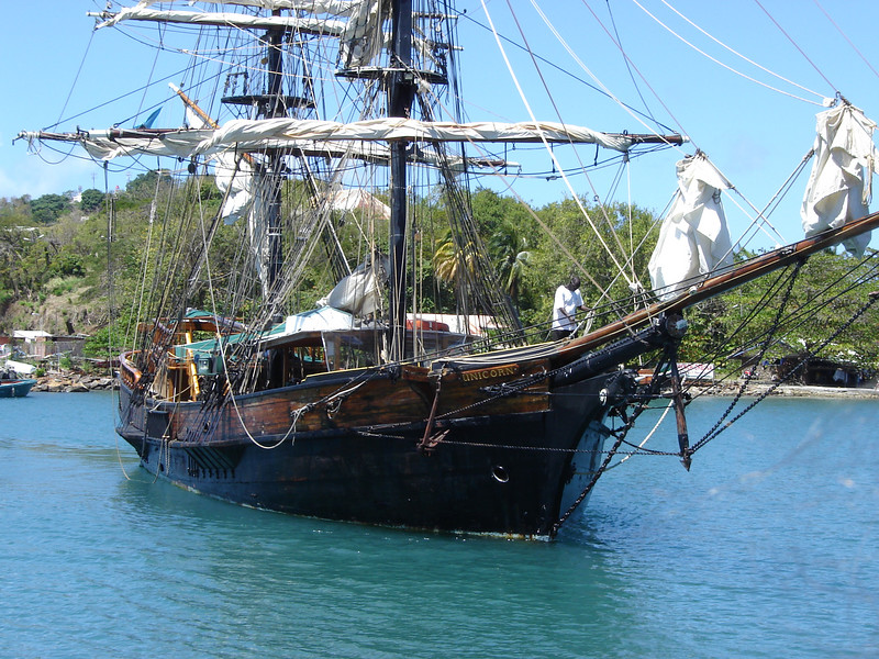 """Brig Unicorn  The """"Brig Unicorn"""" This is the vessel used in the filming of The Pirates of the Caribbean"""