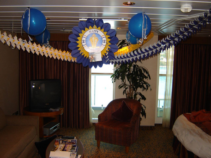 Caribbean Cruise <br /> They Decorated our cabin for Kays Birthday