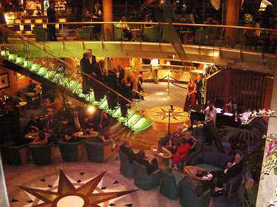 Atrium aboard Serenade of the Seas  A great place for that Kodak Moment