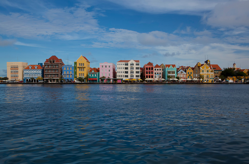 Waterfront in Willemstad, Curacao located in the Netherland Antilles