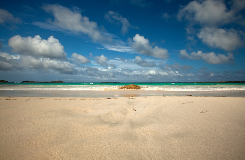 Orient Beach located on the French half of St Marten.
