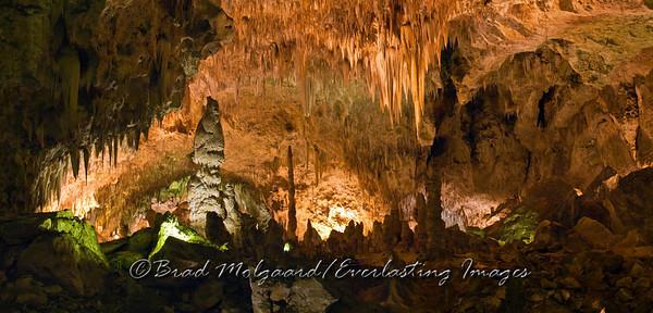 """Rosey Light Chandalier"" - Big Room, Carlsbad Caverns National Park / Carlsbad, New Mexico"