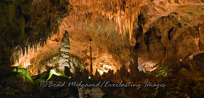 """Rosey Light Chandalier"" - Big Room, Carlsbad Caverns National Park / Carlsbad, New Mexico"