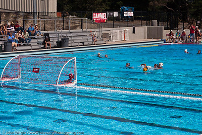 Girls Water Polo in the pool