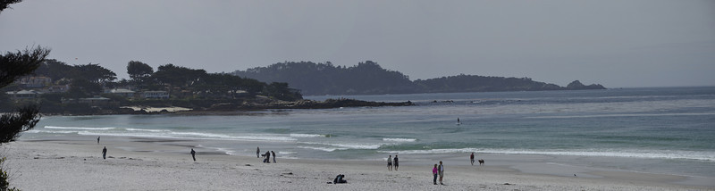 Point Lobos (in the distance) From Carmel Beach