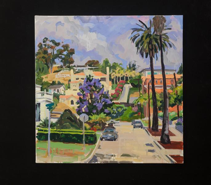 "Ventura, Crimea and Poli St., 24""x 24"", oil on canvas. 2009"