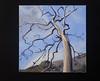 "Dead Tree, Creek Road, 24""x 24"", oil on canvas, 2009"