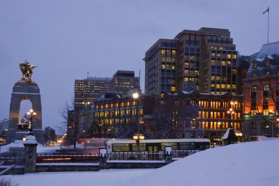 Wellington Street in Winter