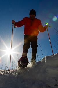 Self Portrait  - Silhouette on Snowshoes