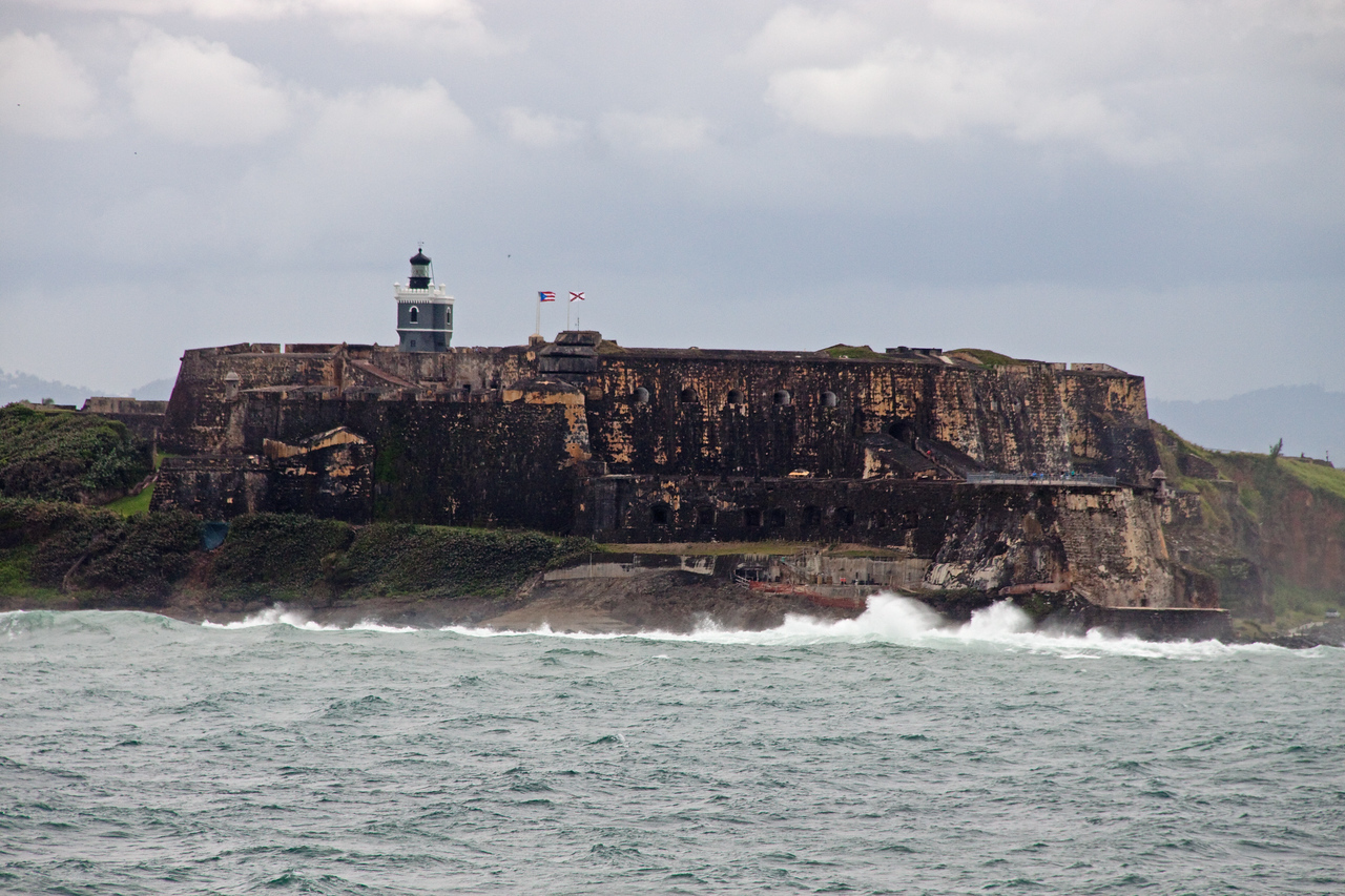 Old Fort guarding the entrance to the Harbor at San Juan