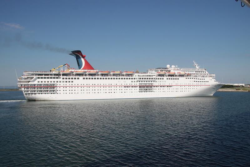 Celebrity Sensation leaving port