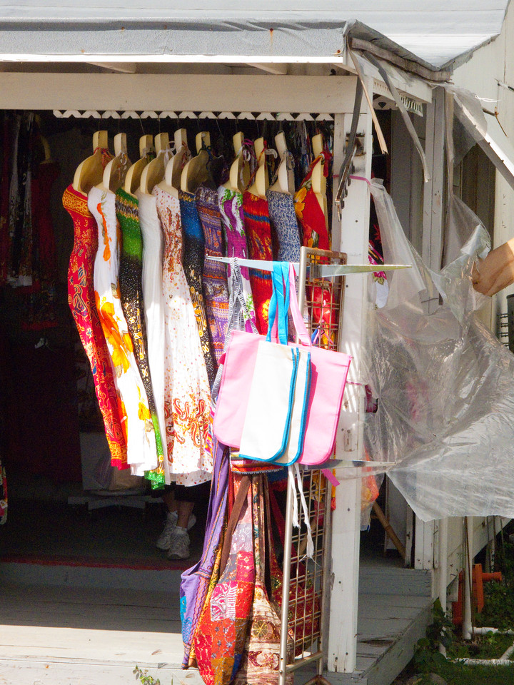 Open air dress shop