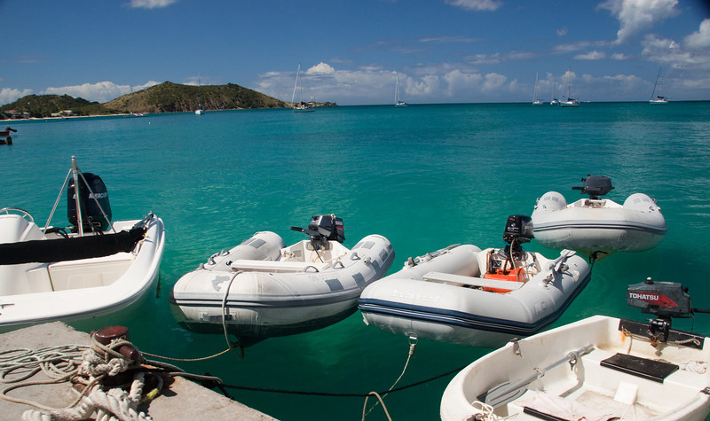 Clear water mooring in the Caribbean.
