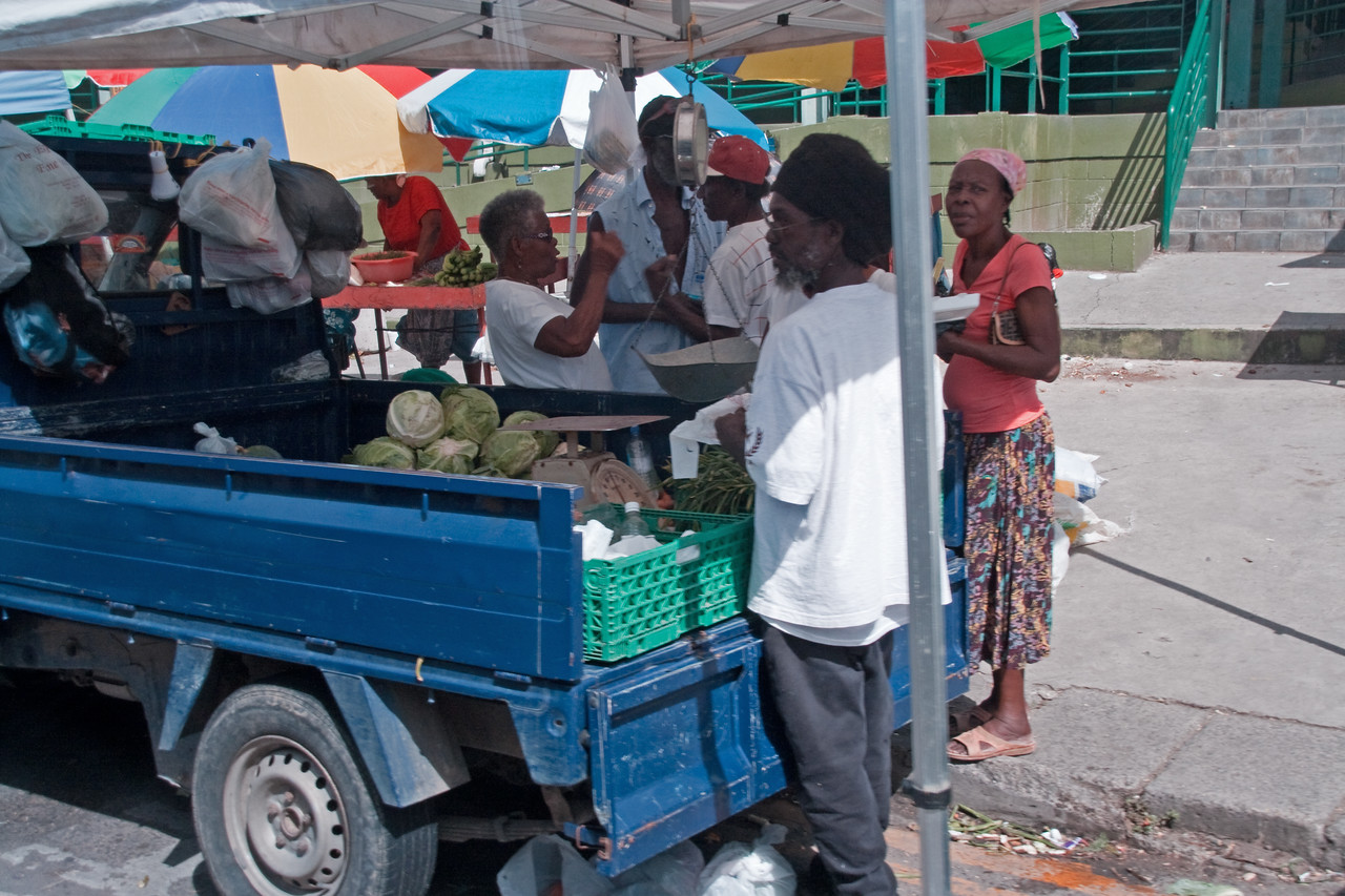 Market out of the back of the truck in St. Marteen