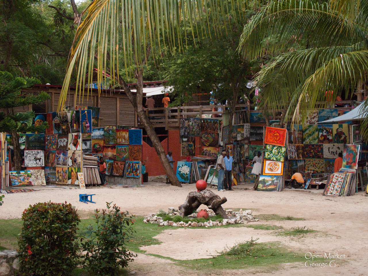 Local markets at Labadi Haiti