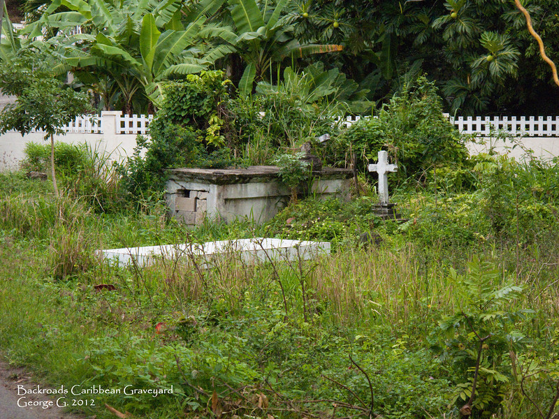 Typical back roads Caribbean graveyard.