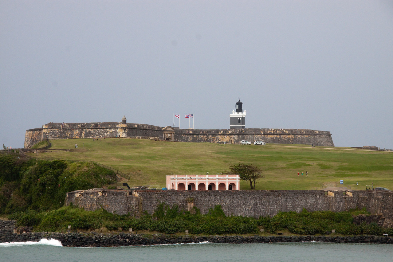 Seeing the Fort in San Juan from harbor side.