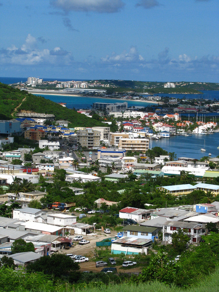St. Marteen, French Side.  Makes a difference in how you spell it.