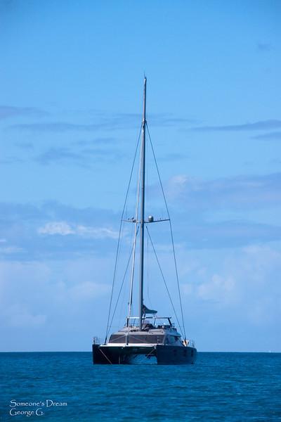 Catamaran in St. Marteen.