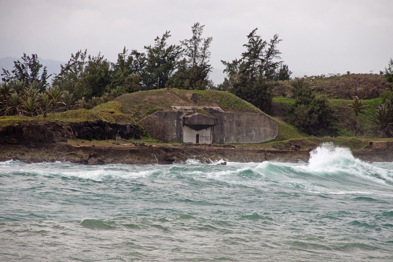 Shoreline bunker in San Juan