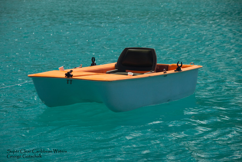 Personal watercraft in St. Marteen clear water.