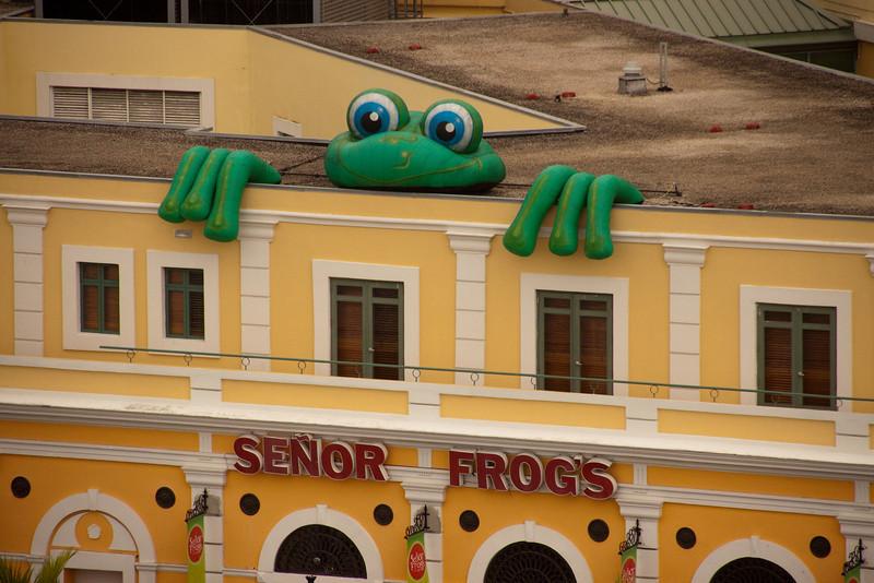 Inflatable at Senor Frogs in San Juan.