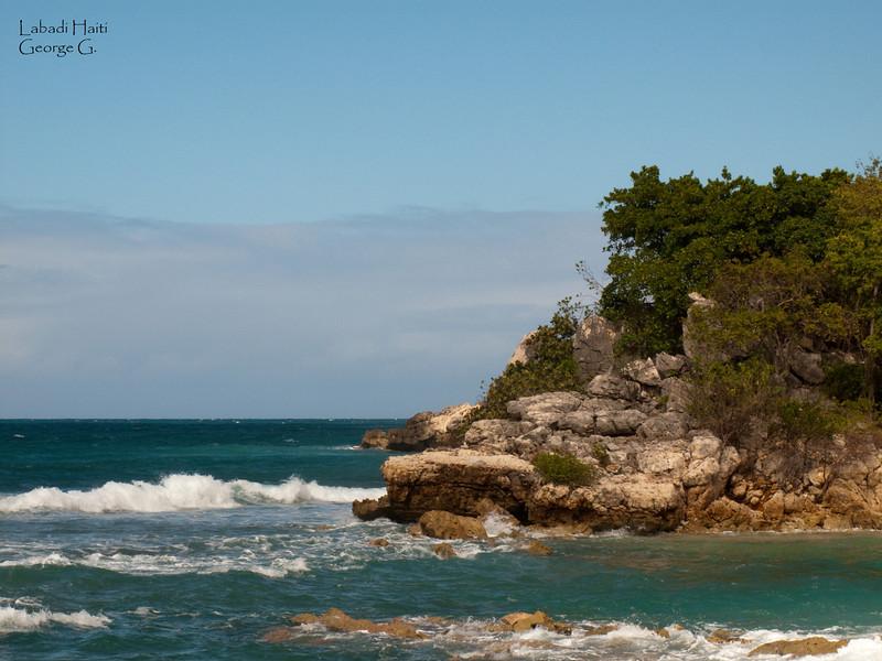 Coastline edge in Labadi Haiti