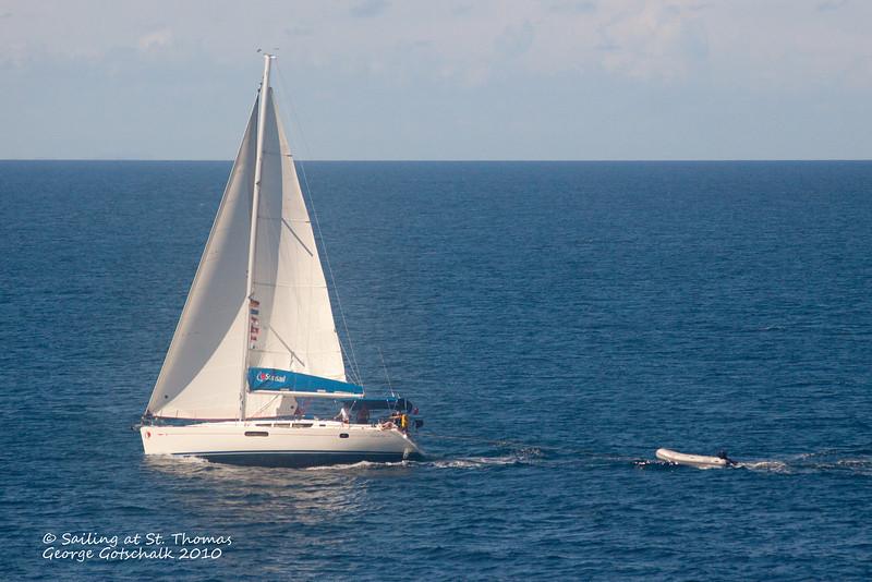 Sailing at St. Thomas