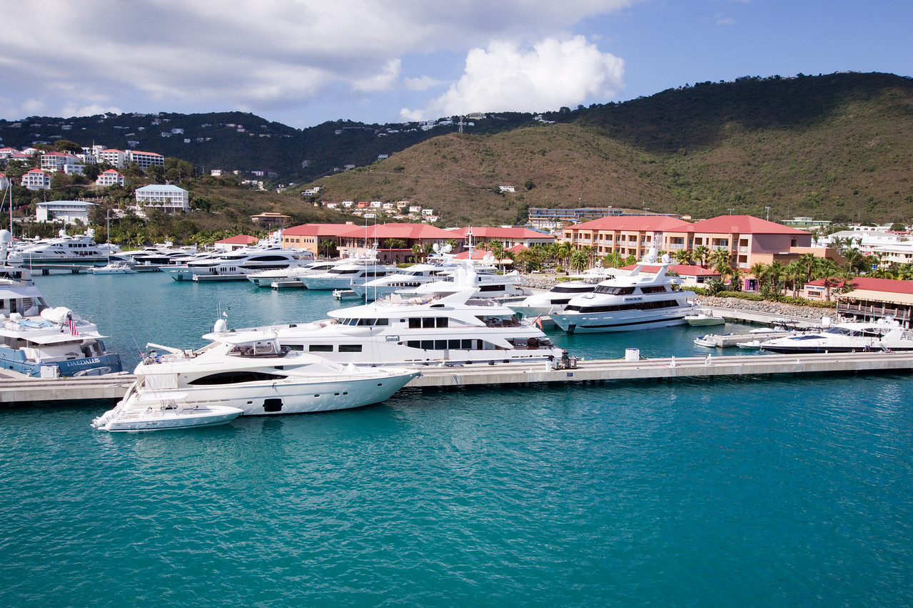 Just a lot of yachts worth millions in St. Thomas.