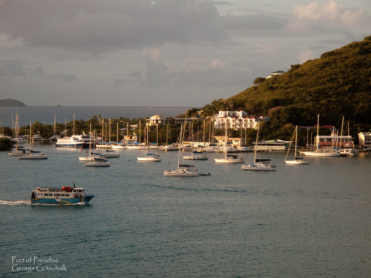 Typical Caribbean port scene