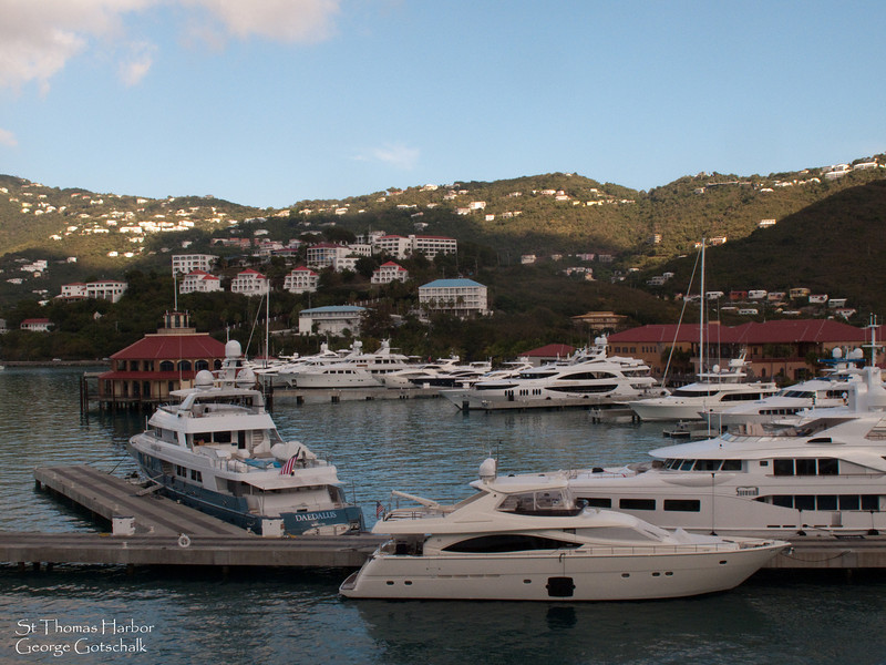A few yachts in St. Thomas.