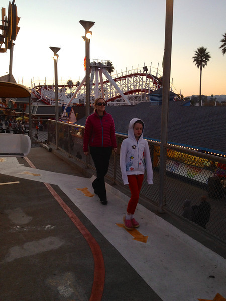 Mommy and Ava getting of the Gondola thing at the Santa Cruz Beach Boardwalk.