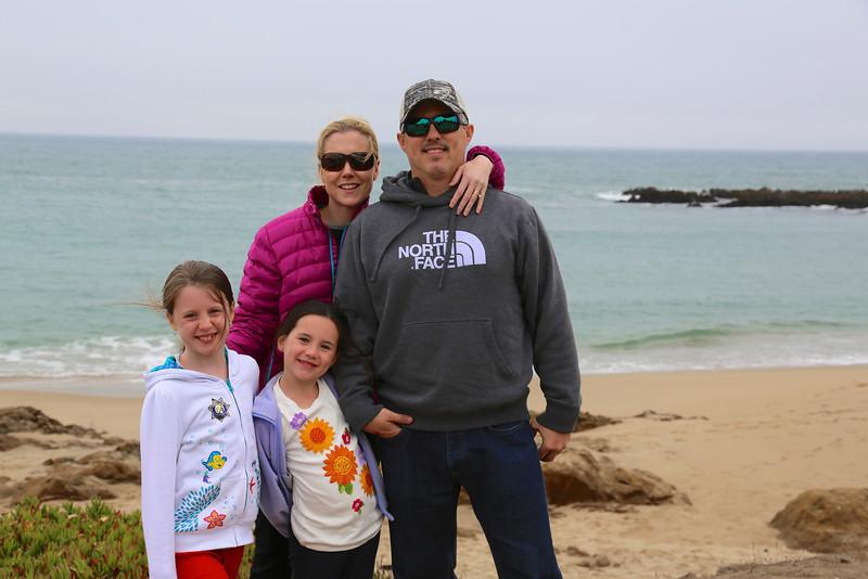 The family at Bean Hollow State Beach between Half Moon Bay and Santa Cruz.
