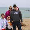 The family at Bean Hollow State Beach between Half Moon Bay and Santa Cruz.