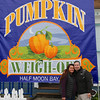 Christina and Tom at the Half Moon Bay Pumpkin Festival.