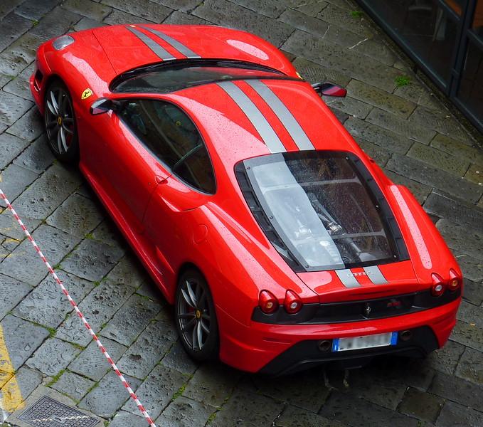 Red Ferrari 430 Scuderia.