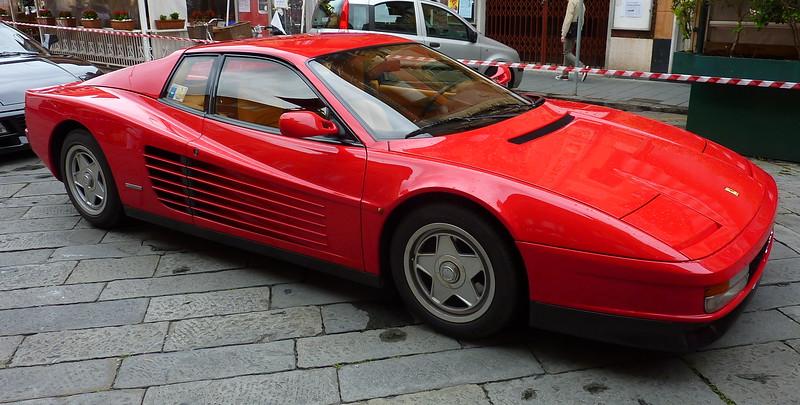 Red Ferrari Testarossa.